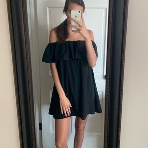 Black off the shoulder French connection dress